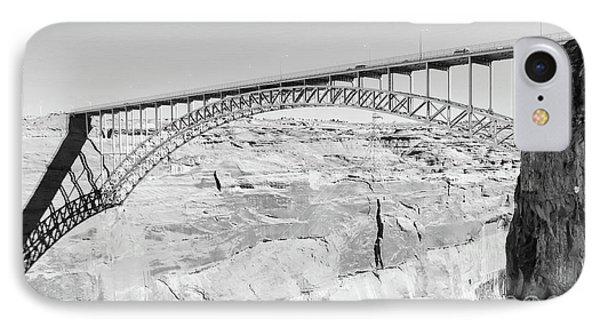 Glen Canyon Bridge Bw IPhone Case