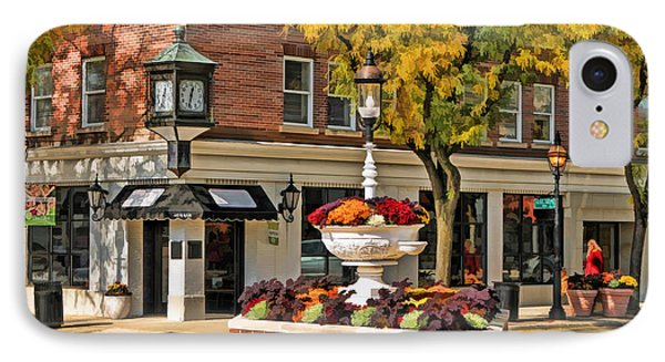 IPhone Case featuring the painting Glen Ellyn Watering Fountain by Christopher Arndt