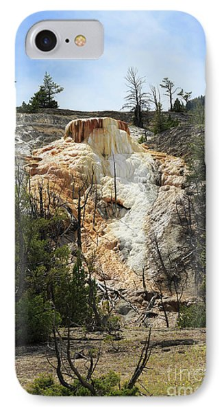 Glen Spring At Mammoth Hot Springs Upper Terraces Phone Case by Louise Heusinkveld