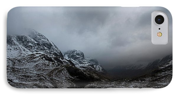 IPhone Case featuring the digital art Glencoe - Three Sisters by Pat Speirs