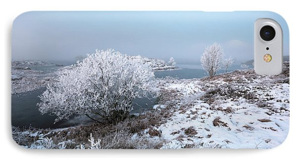 IPhone Case featuring the photograph Rannoch Moor Winter Mist by Grant Glendinning