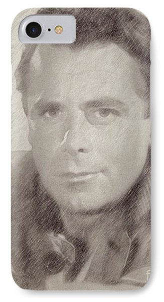 Glenn Ford Hollywood Actor IPhone Case by Frank Falcon
