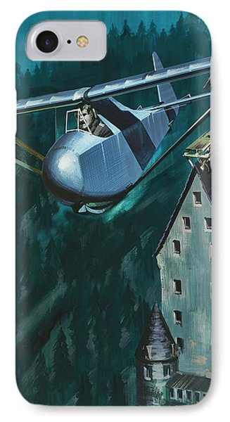 Glider Escape From Colditz Castle IPhone 7 Case by Wilf Hardy
