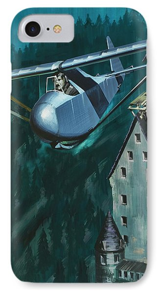 Glider Escape From Colditz Castle IPhone Case by Wilf Hardy