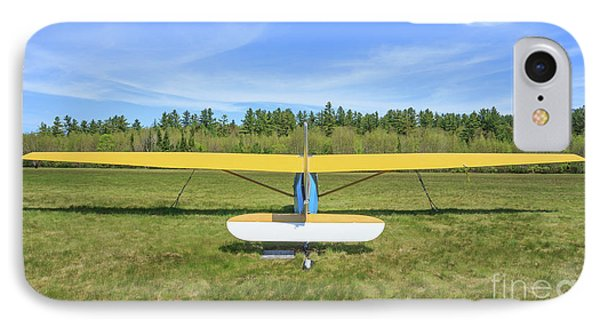 Glider Plane At Rural Airport IPhone Case by Edward Fielding
