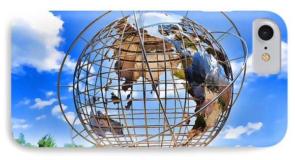 Globe At Columbus Circle IPhone Case by Lanjee Chee