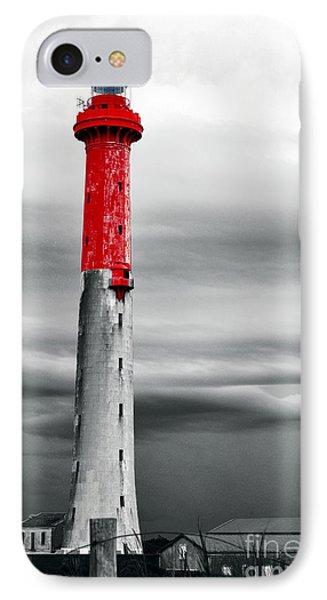 Gloomy Lighthouse IPhone Case by David Bigwood