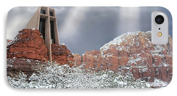 Glorious Chapel Of The Holy Cross IPhone Case by Donna Kennedy