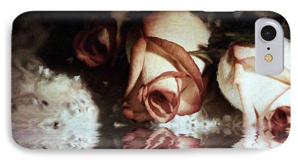 Glorious Nights Roses IPhone Case by Georgiana Romanovna