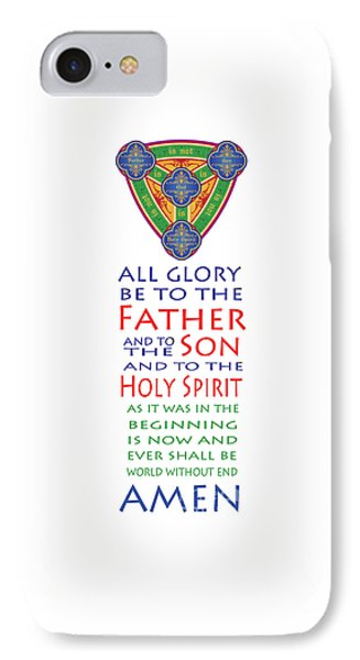 Glory Be Prayer Phone Case by Lawrence Klimecki