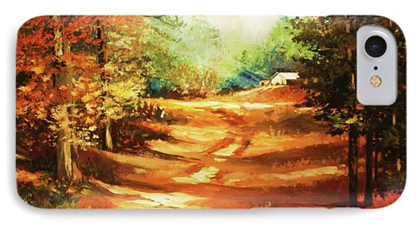 Glory Road In Autumn IPhone Case