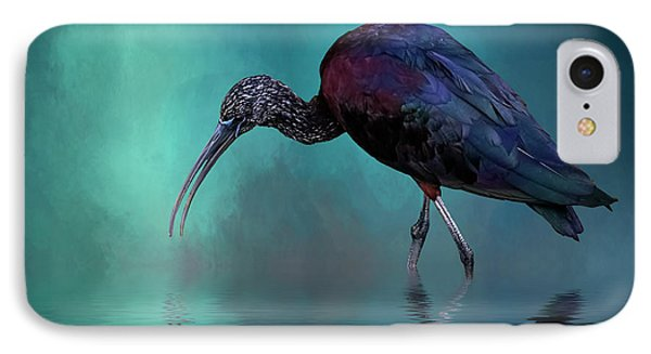 Glossy Ibis Looking For Breakfast IPhone Case by Cyndy Doty