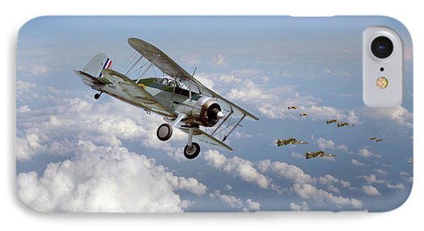 IPhone Case featuring the digital art  Gloster Gladiator - Malta Defiant by Pat Speirs
