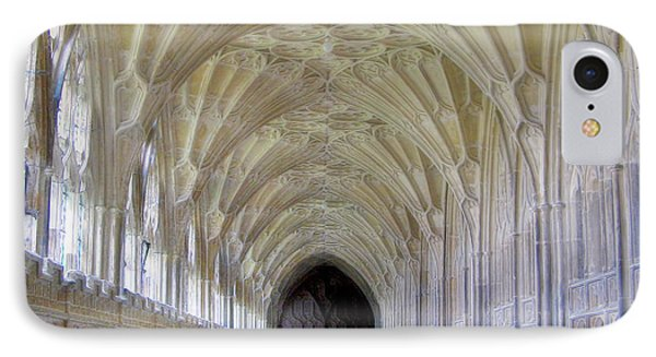 Gloucester Cathedral Cloisters IPhone Case by Nigel Fletcher-Jones