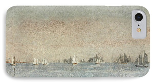Gloucester Harbor Fishing Fleet IPhone Case by Winslow Homer