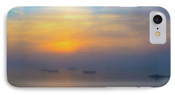 Gloucester Harbor Foggy Sunset IPhone Case