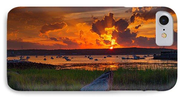 Gloucester Harbor Sunset IPhone Case