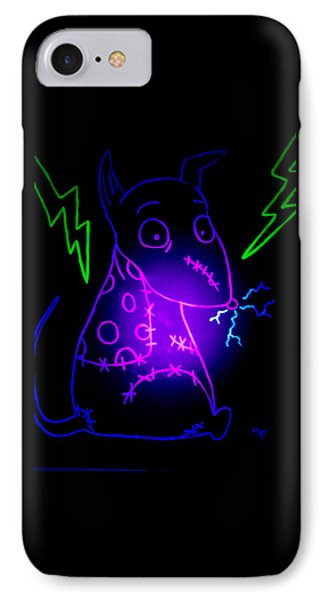 Glow Frankenweenie Sparky IPhone Case by Marisela Mungia