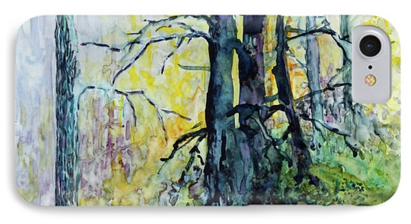 IPhone Case featuring the painting Glow From The Tamarack by Joanne Smoley