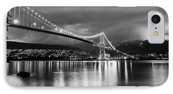 Glow Of The Bridge IPhone Case by James Wheeler