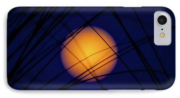 Glow Of The Super Moon IPhone Case by Mark Andrew Thomas