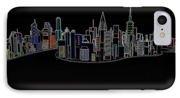 Glowing City IPhone Case by Thomas M Pikolin