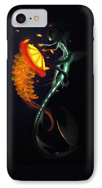 Glowing Depths Phone Case by Nicki Lagaly
