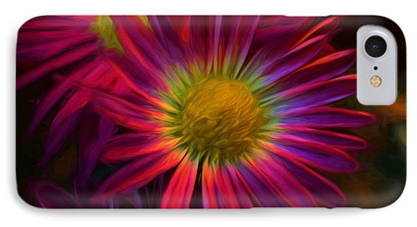 Glowing Eye Of Flower IPhone Case by Lilia D