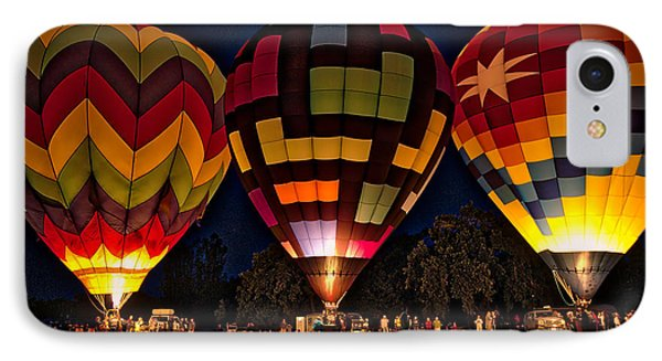 IPhone Case featuring the photograph Glowing Hot Air Ballons by Kim Wilson