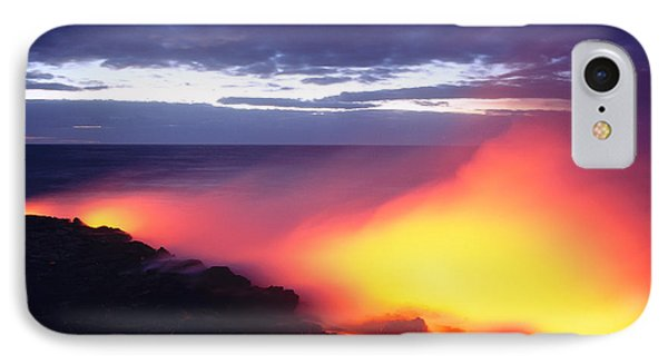 Glowing Lava Flow Phone Case by William Waterfall - Printscapes