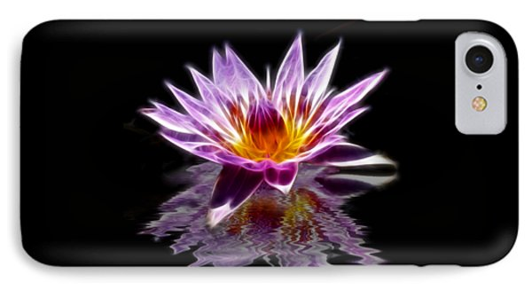 Glowing Lilly Flower IPhone Case by Shane Bechler
