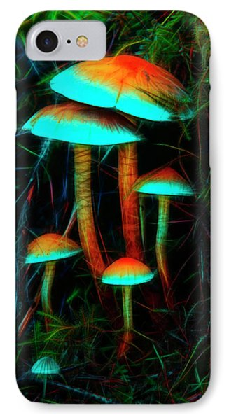 IPhone Case featuring the photograph Glowing Mushrooms by Yulia Kazansky