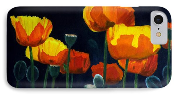 Glowing Poppies IPhone Case