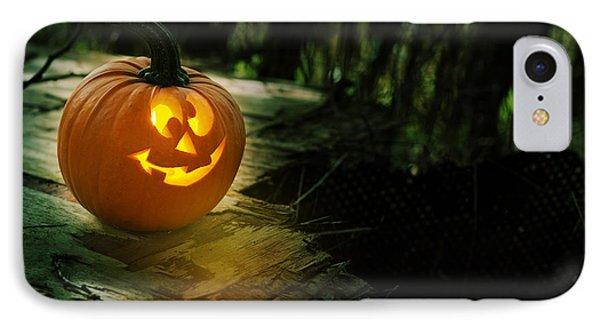 Glowing Pumpkin IPhone Case by Amanda Elwell