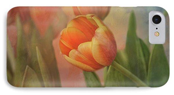 Glowing Tulip IPhone Case by Joan Bertucci
