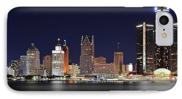 Gm Towers Over Detroit IPhone Case