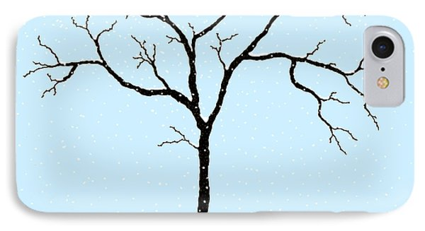 Gnarled In Winter IPhone Case by Alycia Christine