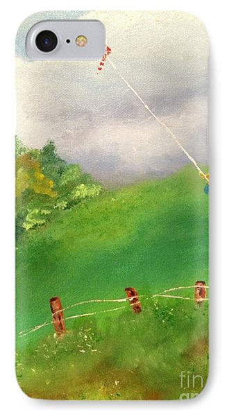 IPhone Case featuring the painting Go Fly A Kite by Denise Tomasura