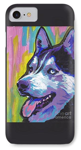 Go Husky IPhone Case by Lea S