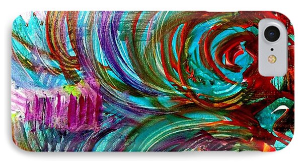 IPhone Case featuring the painting Go With The Flow by Julie  Hoyle