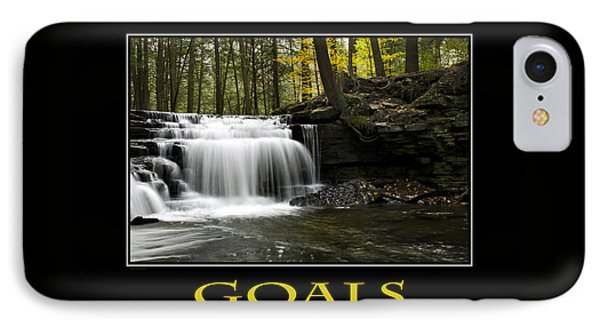 Goals Inspirational Motivational Poster Art Phone Case by Christina Rollo