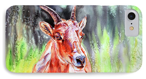 Goat From The Mountain Phone Case by Tracy Rose Moyers