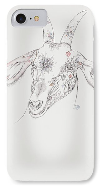 Goat IPhone Case by Karen Robey