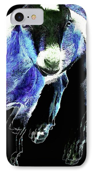 Goat Pop Art - Blue - Sharon Cummings IPhone Case