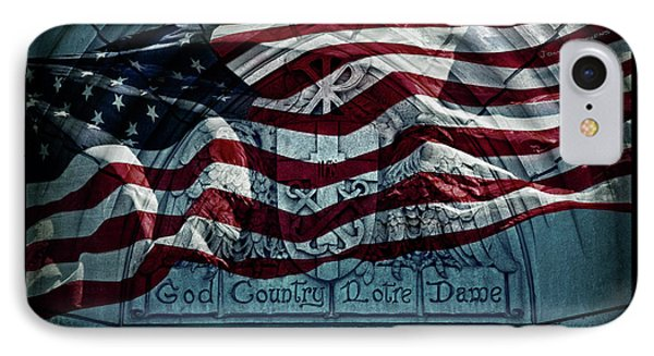 God Country Notre Dame American Flag IPhone 7 Case