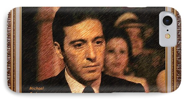 God Father Michael Corleone IPhone Case by Mario Carini