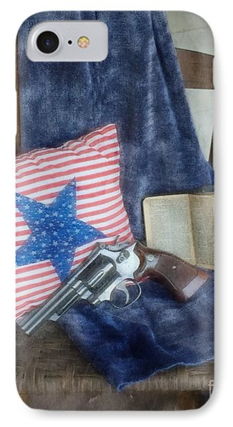 IPhone Case featuring the photograph God, Guns And Old Glory by Benanne Stiens