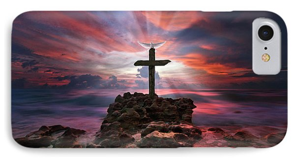 God Is My Rock Special Edition Fine Art IPhone Case by Justin Kelefas