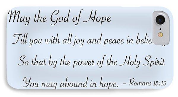 God Of Hope IPhone Case by Greg Joens