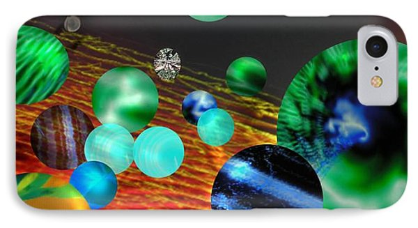IPhone Case featuring the digital art God Playing Marbles Tribute To Donovan by Seth Weaver